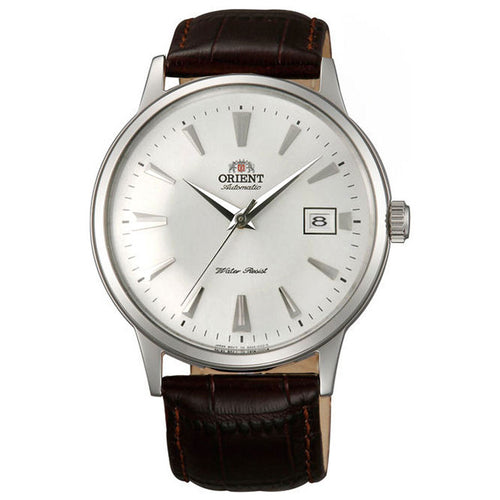Orient AC00005W Men's Bambino II White Dial Automatic Dark Brown Leather Strap Watch