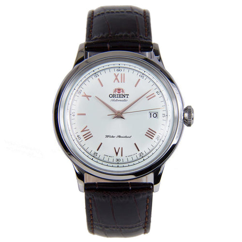 Orient AC00008W Men's Bambino II White Dial Brown Leather Strap Automatic Watch