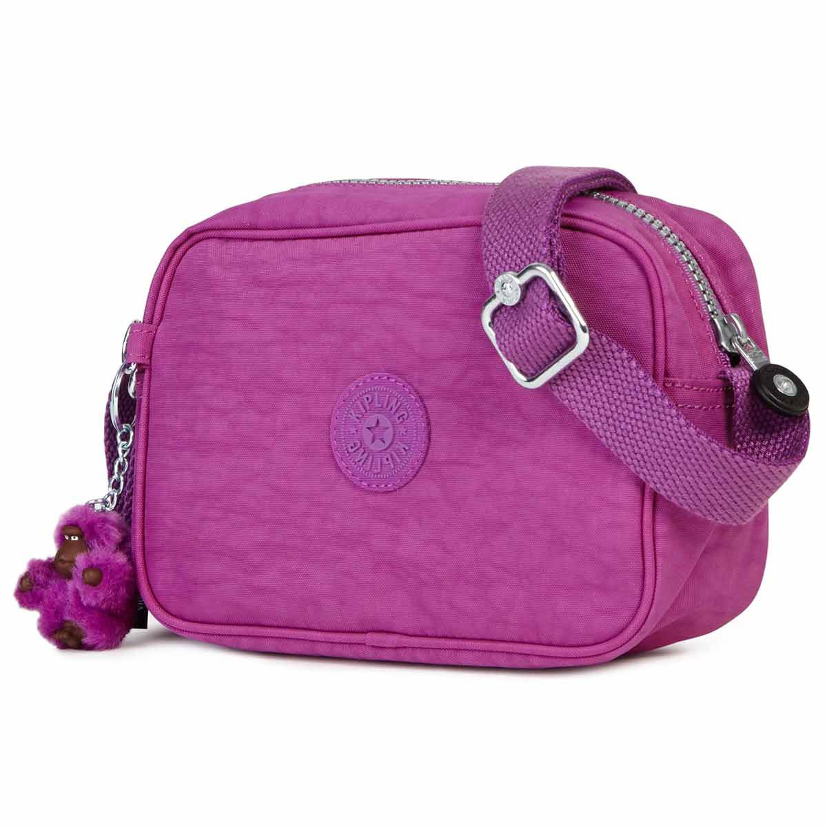Kipling AC7760-500 Women's Dee II Purple Q Nylon Crossbody Handbag
