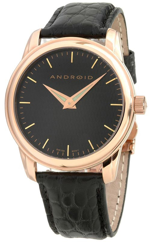 Android AD329ARK Men's Swiss Quartz Leather Strap Watch