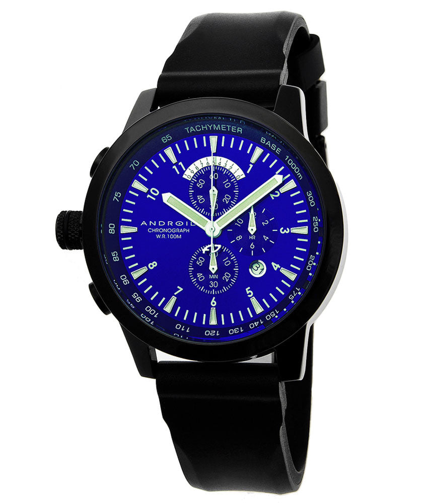 Android AD384ABU Men's Aniforce Lefty Blue Dial Chronograph Watch