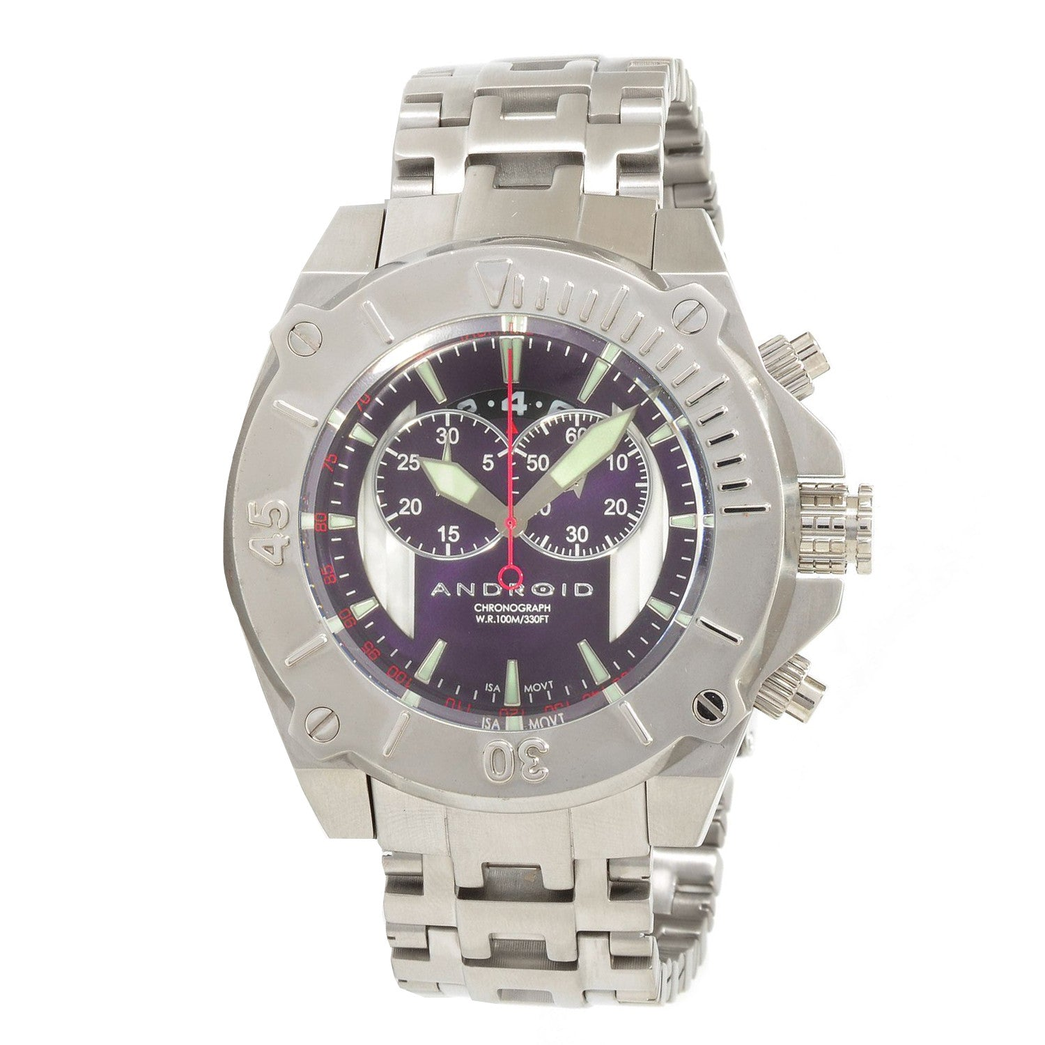 Android AD450BPU Men's Silverjet-2 Swiss Chronograph Watch