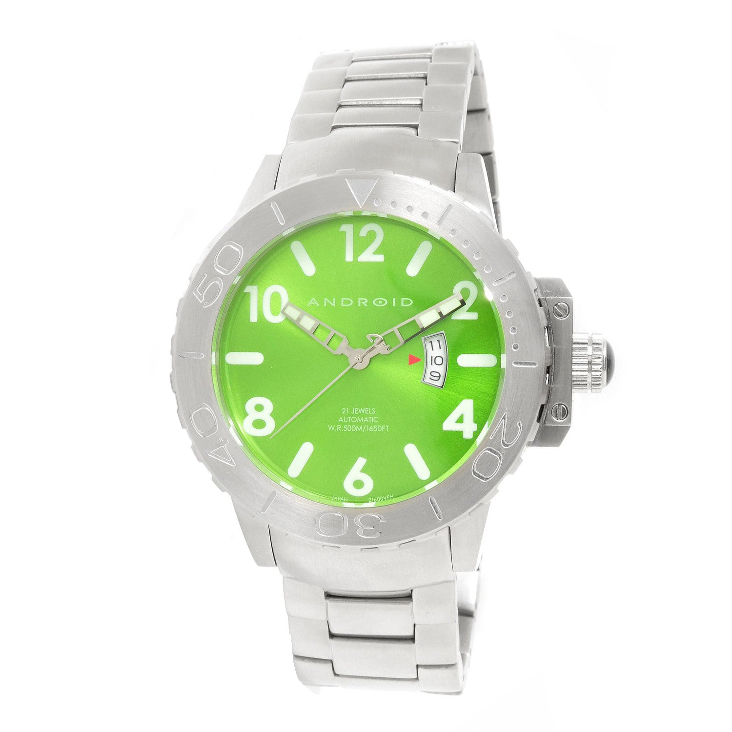 Android AD458BGR Men's Divemaster Trans 52 Oversized Automatic Watch