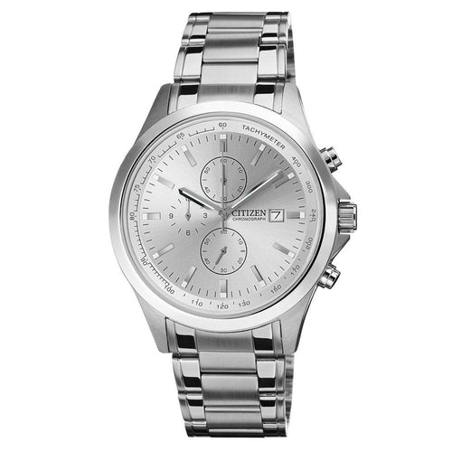 Citizen AN3510-50A Men's Silver Dial Stainless Steel Bracelet Chronograph Watch