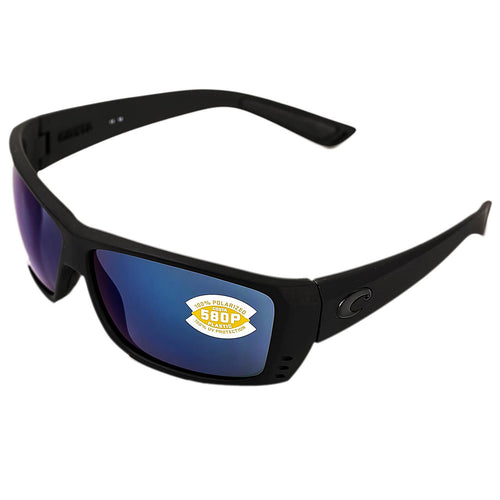 Costa Del Mar AT01OBMP Men's Cat Cay Polarized Blue Mirror 580P Lenses Blackout TR 90 Nylon Frame Sunglasses