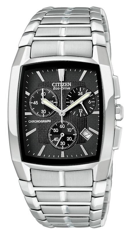 Citizen AT2000-54E Men's Eco-Drive Chronograph Steel Watch