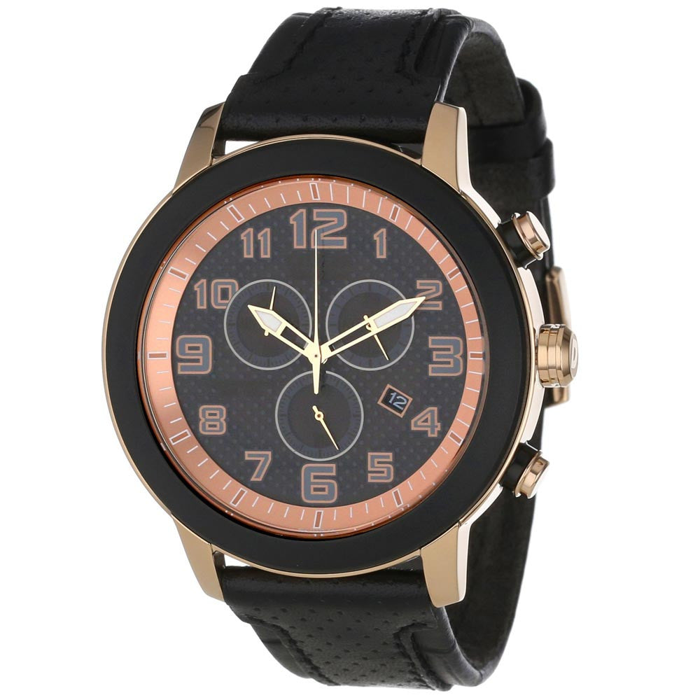 Citizen AT2233-05E Women's BRT 3.0 Eco-Drive Chronograph Black Dial Rose Gold Steel Watch