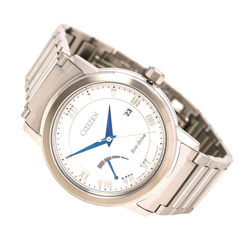 Citizen AW7020-51A Men's Eco-Drive Power Reserve Silver Dial Steel Bracelet Watch