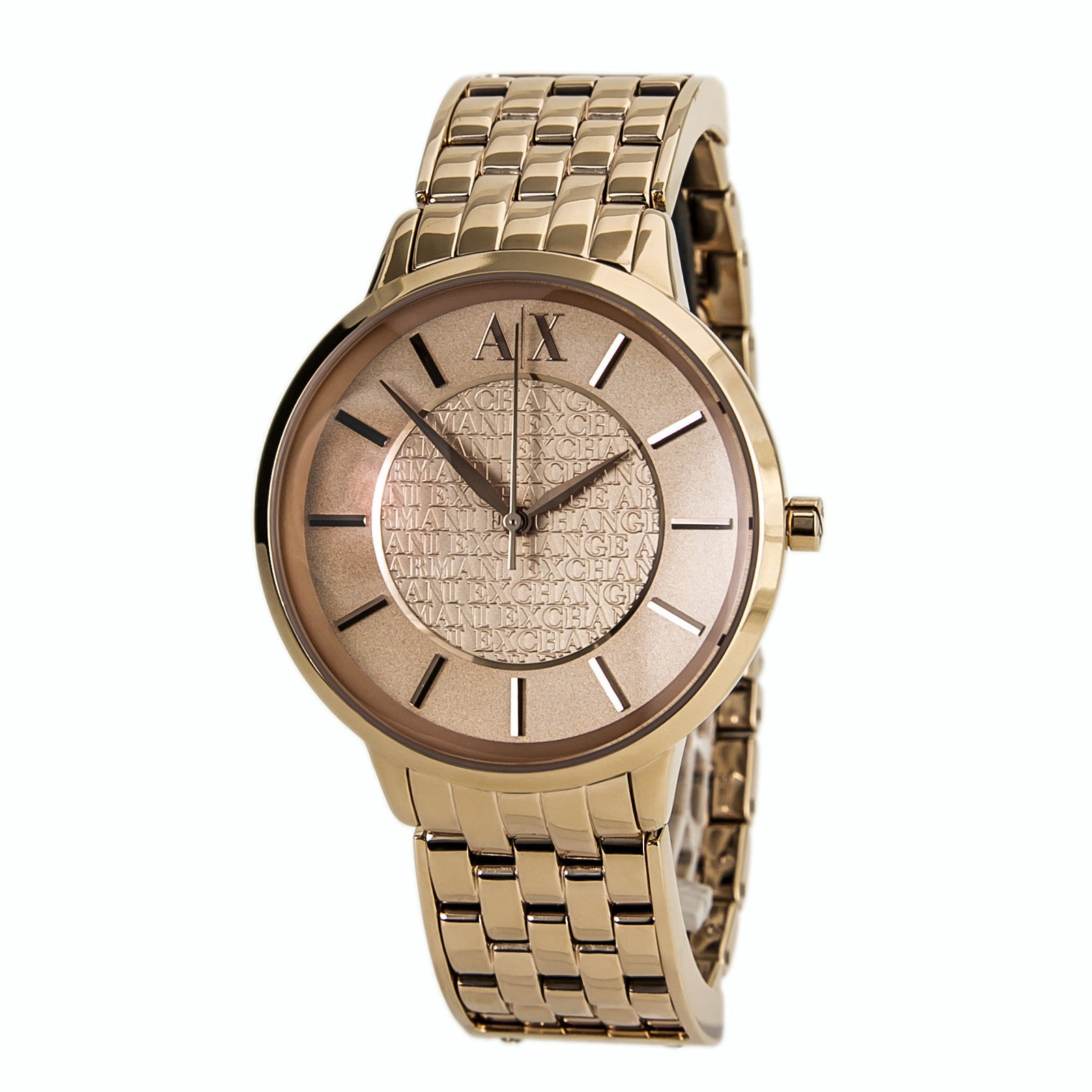 Armani Exchange AX5305 Women's Olivia Rose Gold Dial Rose Gold Plated Steel Bracelet Watch