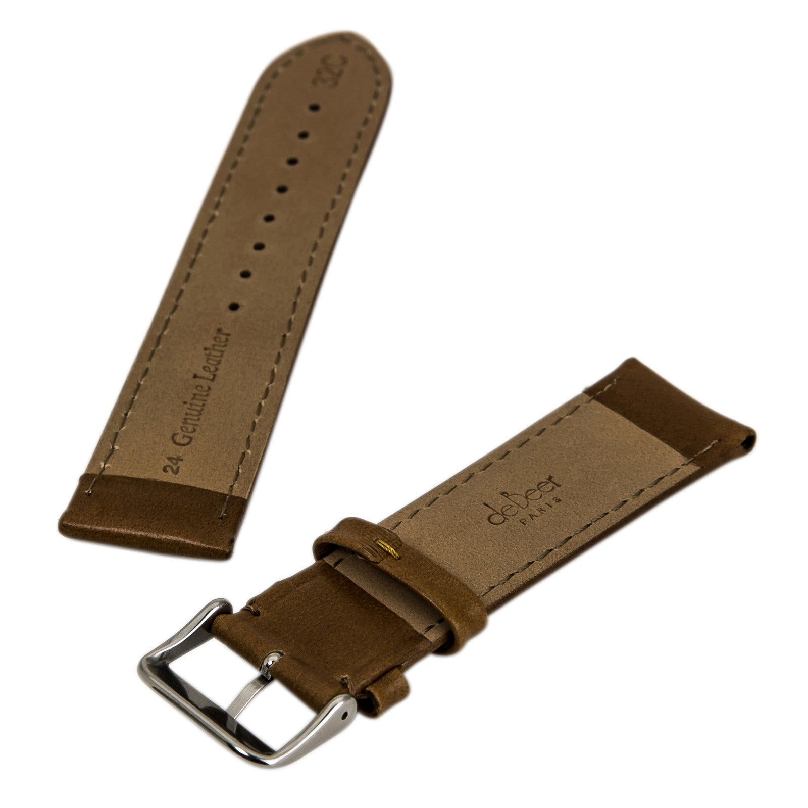 Debeer Honey 24 mm Wide Genuine Leather Strap