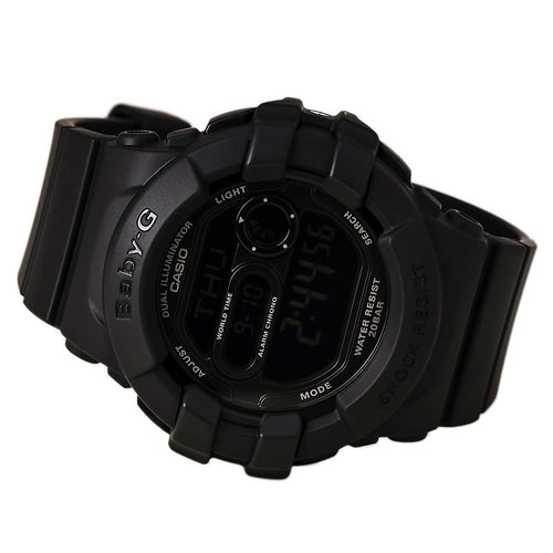 Casio BGD140-1A Women's Baby-G Black Resin Alarm Dual Illuminator EL Backlight Watch