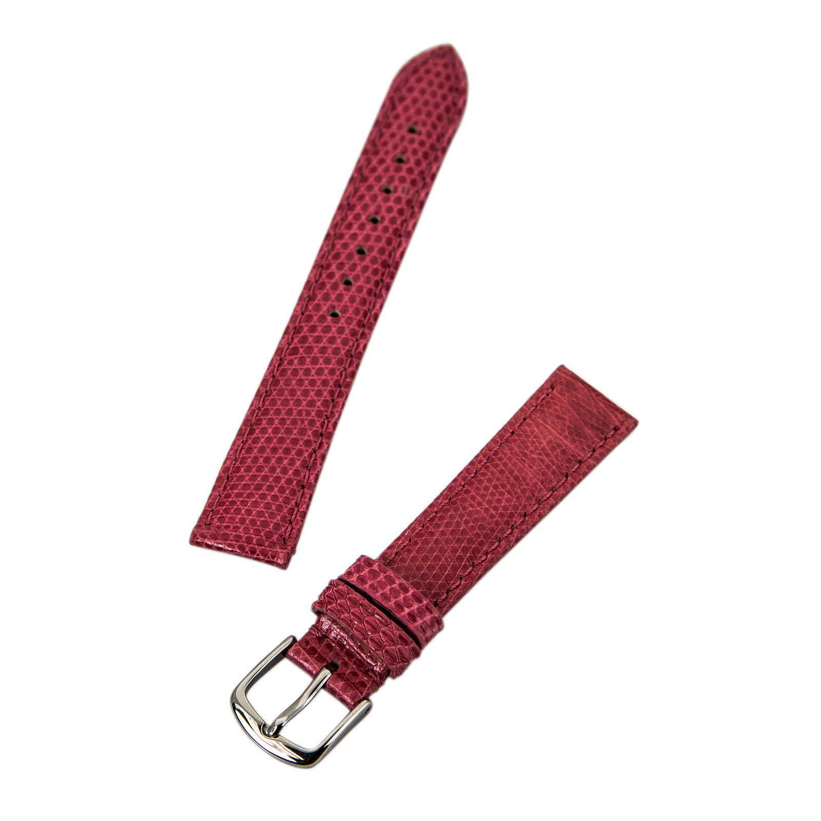 Hadley Roma Pink 16 mm Wide Genuine Lizard Leather Strap