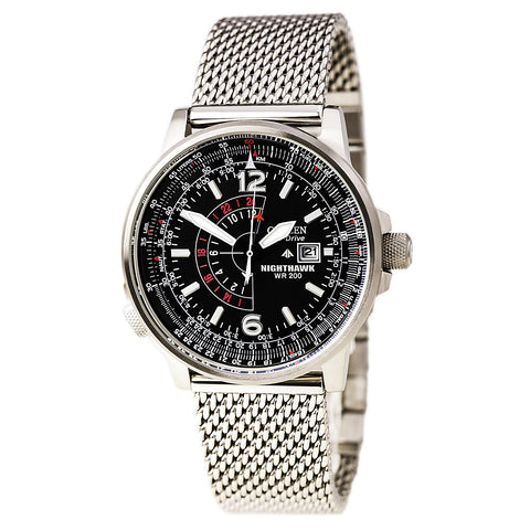Citizen AU1040-59E Men's Eco-Drive Black Dial Steel Bracelet Watch