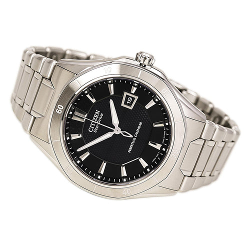 Citizen BL1270-58E Men's The Signature Octavia Perpetual Calendar Black Dial Steel Bracelet Watch