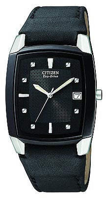 Citizen BM6575-06E Men's Eco Drive Black Leather Strap Watch