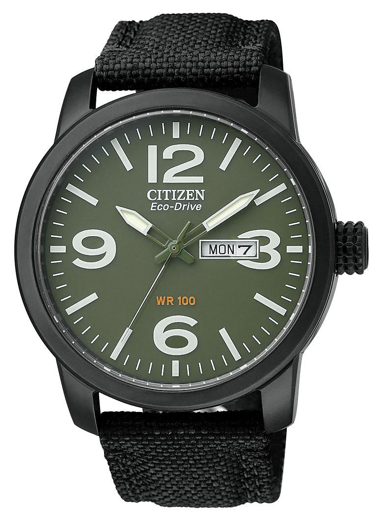 Citizen Men's Black IP Strap Watch BM8475-00X