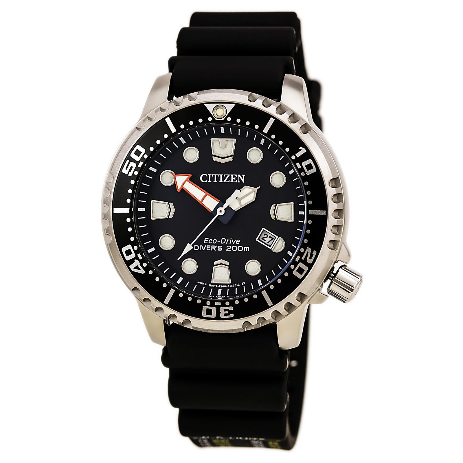 Citizen BN0150-28E Men's Promaster Diver Eco-Drive Black Dial Black Polyurethane Strap Dive Watch