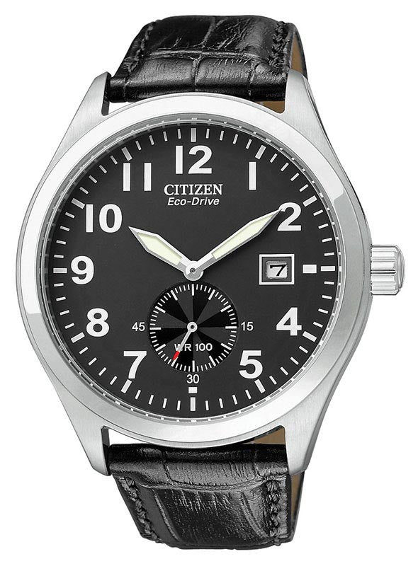 Citizen BV1060-07E Men's Eco-Drive WR100 Leather Watch