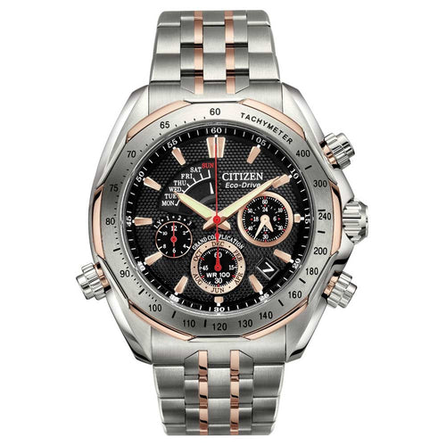 Citizen BZ0016-50E Men's Signature Grand Complication Two Tone Titanium Eco-Drive Chrono Watch