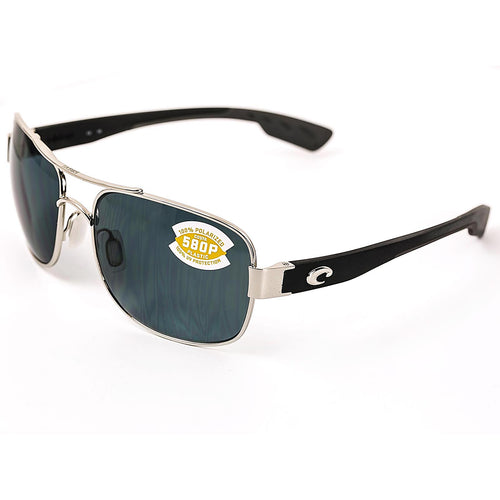Costa Del Mar CC21OGP Women's Cocos Polarized Grey 580P Lenses Palladium Monel Frame Sunglasses