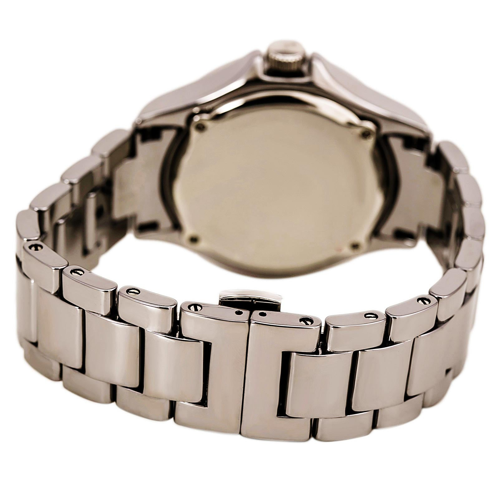 Fossil CE1067 Women's Riley Crystal Accented Bezel Grey Dial Ceramic Bracelet Watch