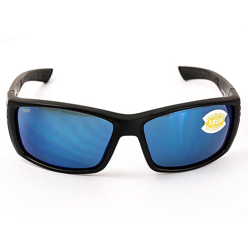 Costa Del Mar CZ01OBMP Cortez Polarized Blue Mirror 580P Lenses Blackout TR 90 Nylon Frame Sunglasses