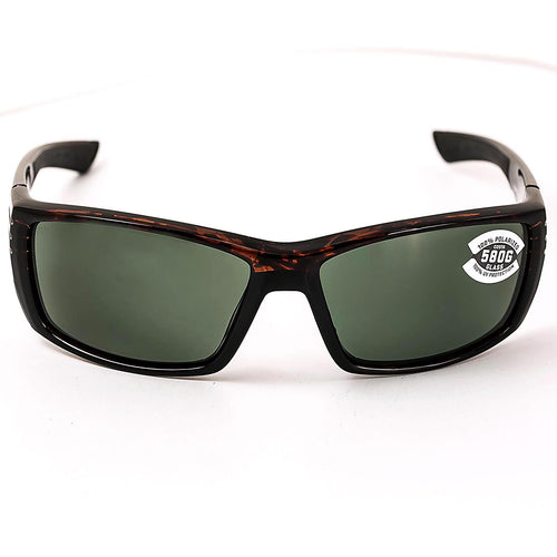 Costa Del Mar CZ10OGGLP Cortez Polarized Grey 580G Lenses Tortoise TR 90 Nylon Frame Sunglasses