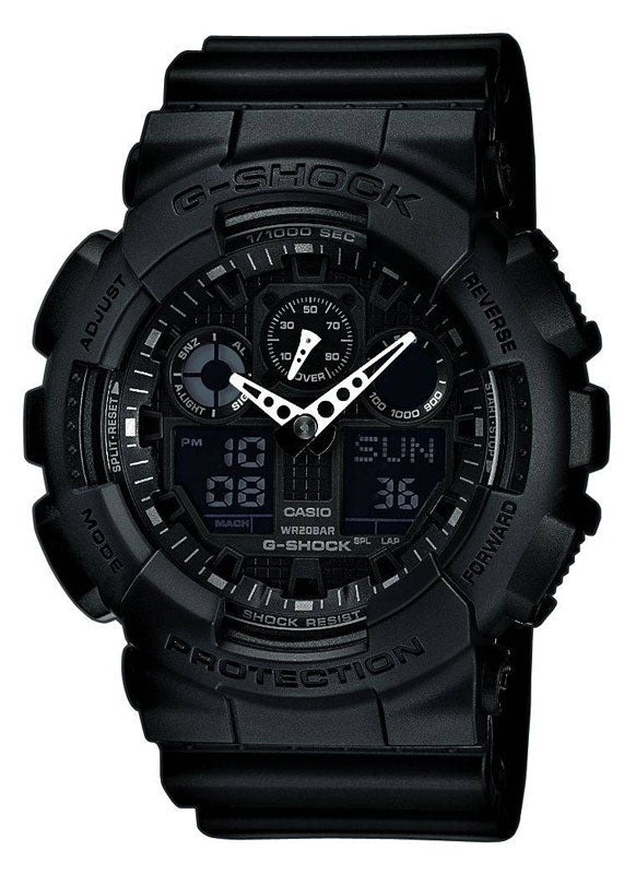 Casio Ga100-1a1 Men's G-Shock Black Resin Strap Watch GA100-1A1