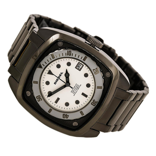 Diesel DZ1494 Men's Gunmetal Ion Plated Stainless Steel White Dial Watch