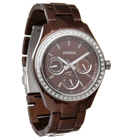 Fossil ME3044 Men's Townsman Automatic Transparent Silver Skeleton Dial Stainless Steel Watch