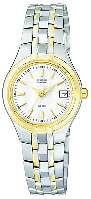 Citizen Women's Two Tone Eco-Drive Watch EW1244-57A