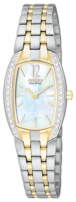 Citizen EW9964-54D Women's Two Tone Mother of Pearl Dial Watch