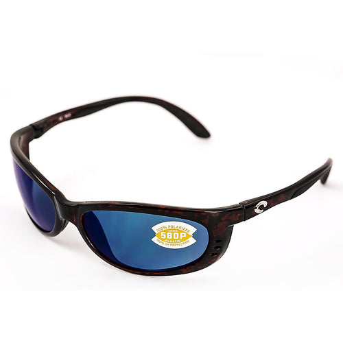 Costa Del Mar FA10OBMP Fathom Polarized Blue Mirror 580P Lenses Tortoise TR 90 Nylon Frame Sunglasses