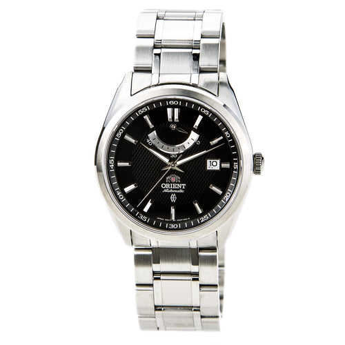 Orient FFD0F001B Men's Vintage Stainless Steel Black Dial Power Reserve Automatic Watch