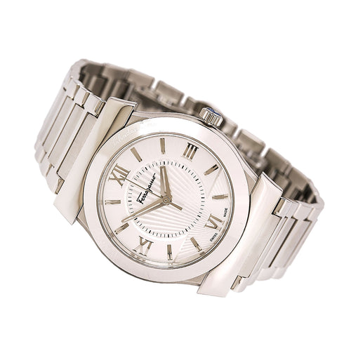 Ferragamo FI0990014 Men's Vega Silver Dial Stainless Steel Bracelet Swiss Watch