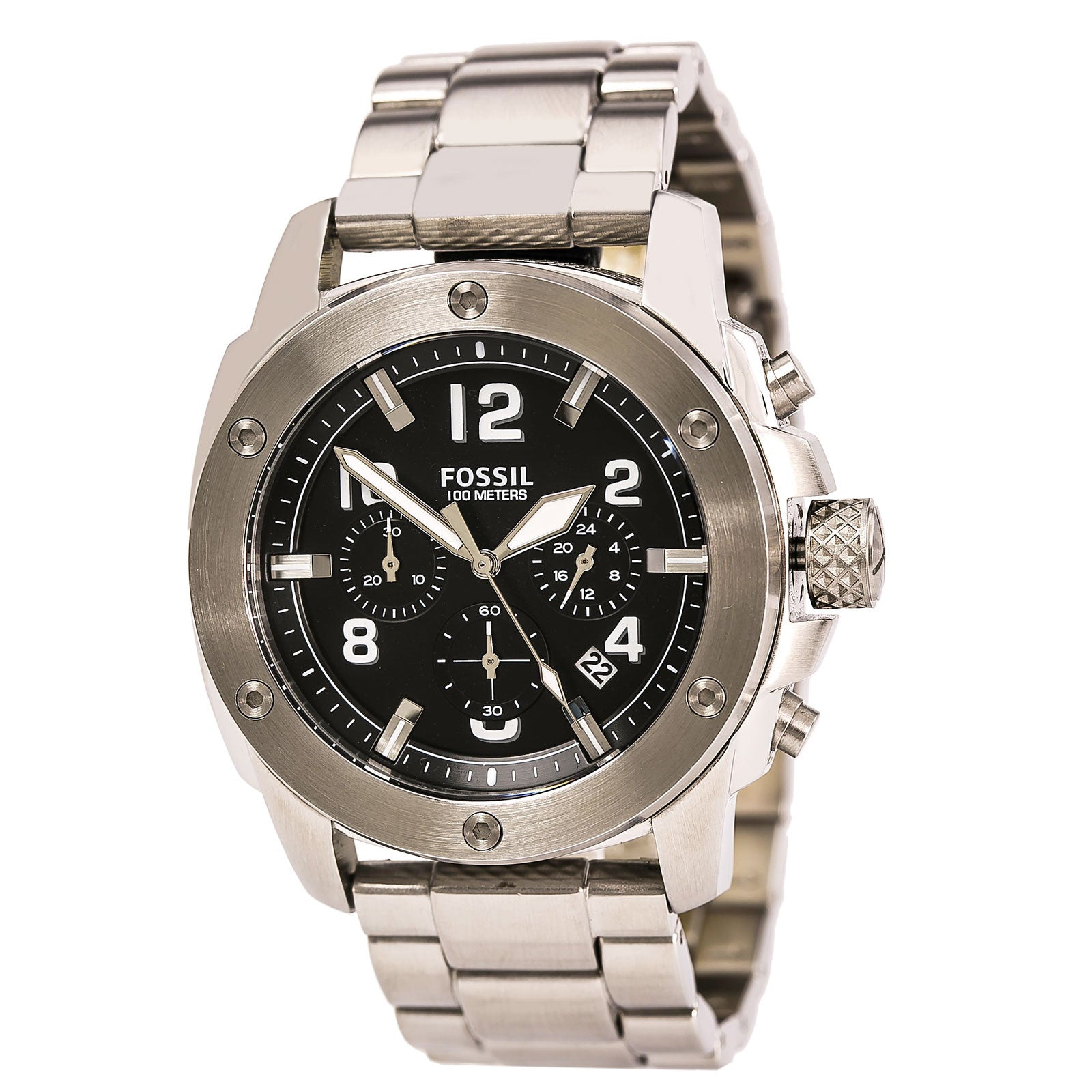 Fossil FS4926 Men's Modern Machine Black Dial Stainless Steel Bracelet Chronograph Watch