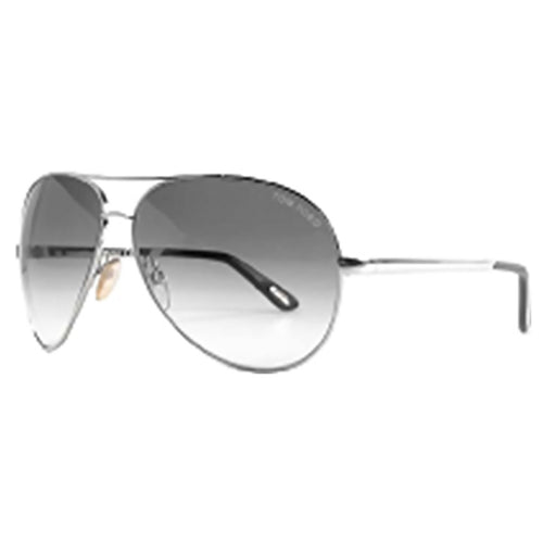 Tom Ford FT003541 753 Women's Grey Gradient Lenses Silver Metal Frame Sunglasses