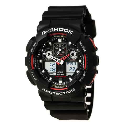 Casio AMW370B-1A1 Men's Sports Black Dial Black IP Steel Black Rubber Strap Chronograph Watch