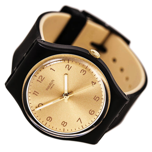 Swatch GB288 Unisex Exotic Charm Golden Friend Too Gold Tone Dial Watch
