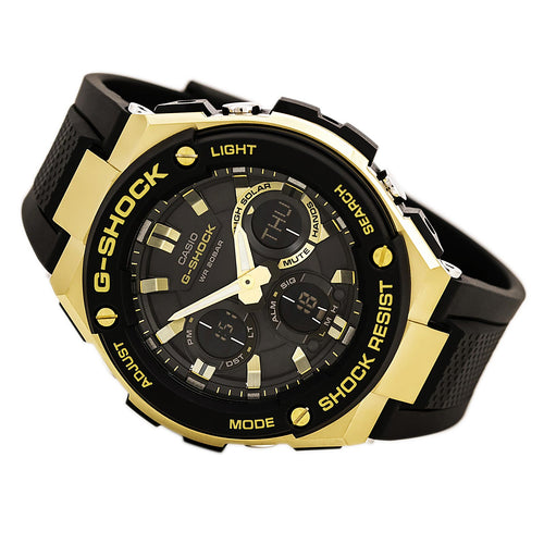 Casio GSTS100G-1A Men's G-Shock Ana-Digi Black Dial Black Resin Strap World Time Dive Watch