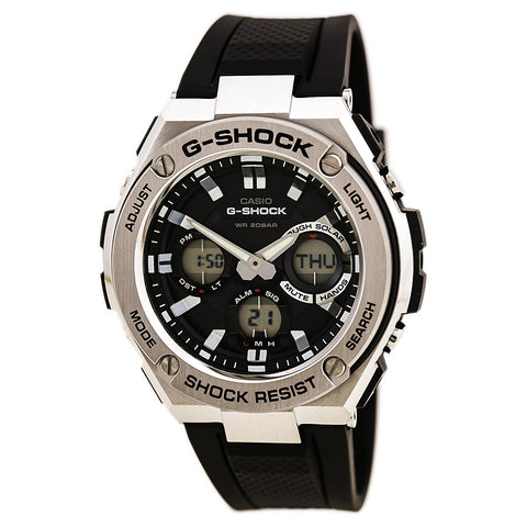 Seiko SSC287 Men's Recraft Solar Black Dial Black IP Steel Bracelet Chronograph Watch