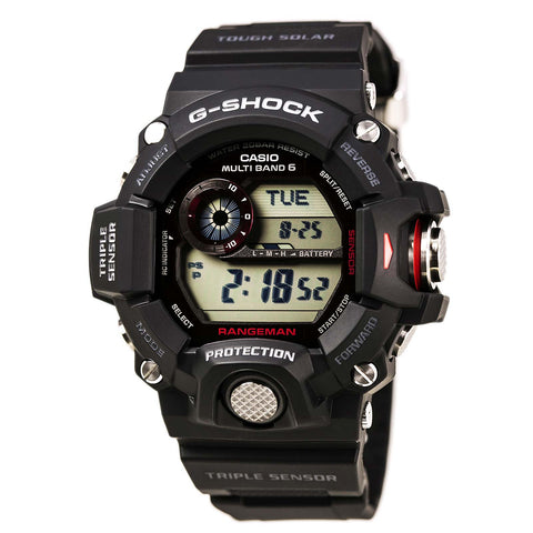 Casio GA100BW-1A Men's G-Shock World Time Ana-Dig White Dial Black Resin Strap Alarm Dive Watch
