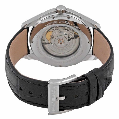 Hamilton H32505751 Men's Jazzmaster Silver Dial Black Leather Strap Automatic Watch