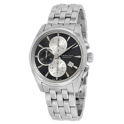 Hamilton H32596181 Men's Jazzmaster Grey Dial Steel Bracelet Chronograph Automatic Watch