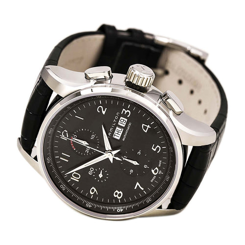 Hamilton H32716839 Men's Jazzmaster Maestro Black Dial Black Strap Automatic Chrono Watch