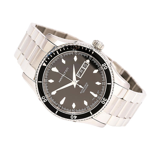 Hamilton H37565131 Men's Seaview Automatic Black Dial Steel Bracelet Watch