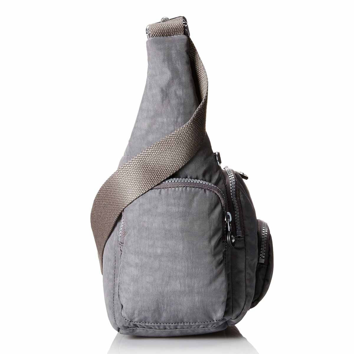 Kipling HB3122-021 Women's Erica Dusty Grey Nylon Crossbody Shoulder Bag