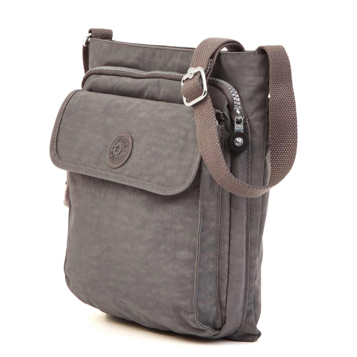 Kipling HB6222-021 Women's Machida Dusty Grey Nylon Crossbody Messenger