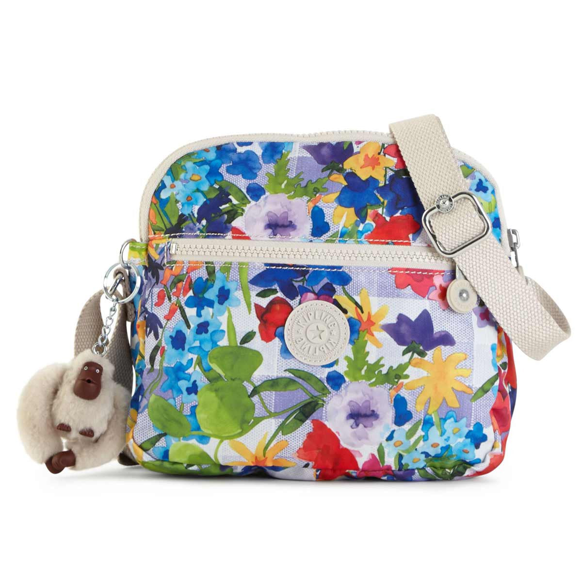 Kipling HB6468-943 Women's Keefe Picnic in the Park Printed Polyester Crossbody Handbag