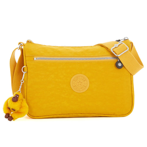 Kipling HB6490-231 Women's Callie Warm Yellow Nylon Crossbody Shoulder Bag